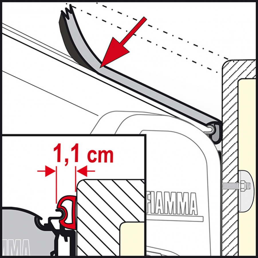 Fiamma Rain Guard Rubber Seal